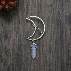 Moon Goddess Decorative Hair Pin Transparent